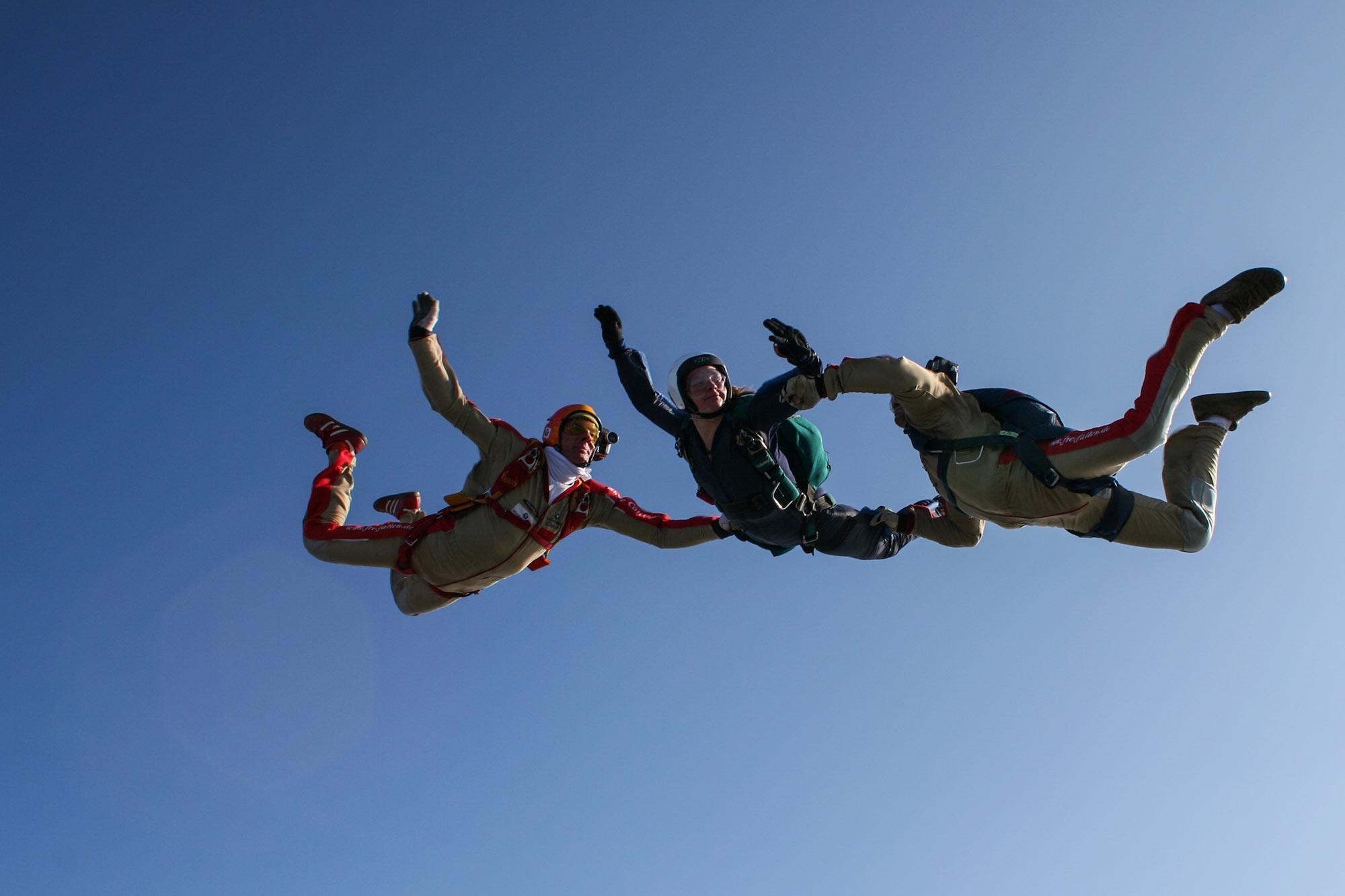 AFF Fallschirmausbildung -- Level 3 Sprung bei Skydive Colibri