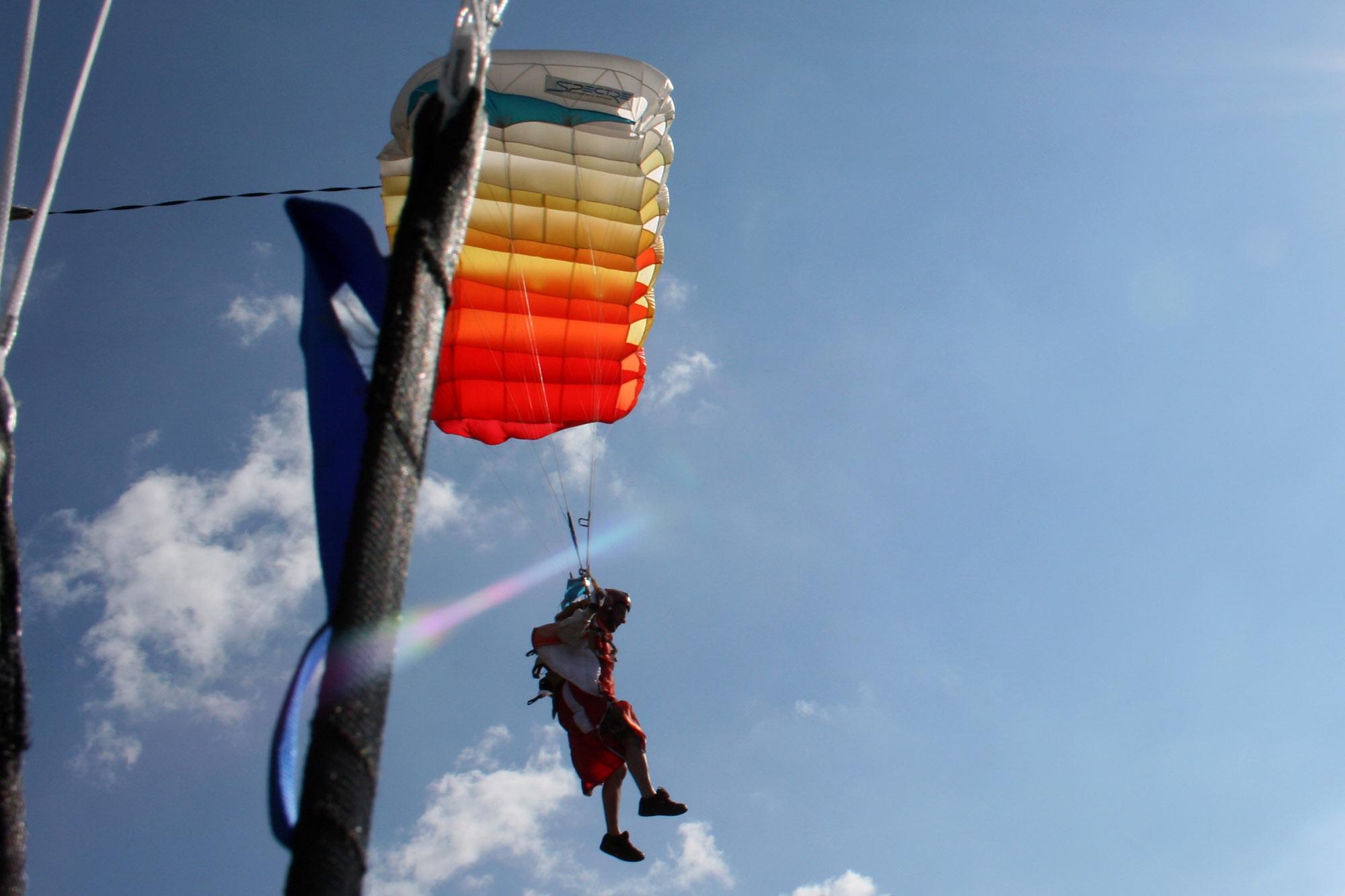 Team Colibri mit Spaß am Schirm © Jukka Biehl